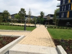 Podium level paving at Alperton Gateway