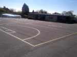 High School resurfacing with Super flex from Aggregate Industries